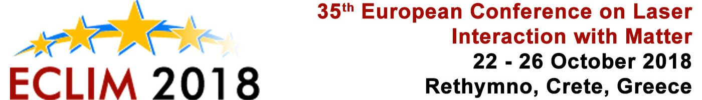 35th EuropeanConference on Laser Interaction with Matter